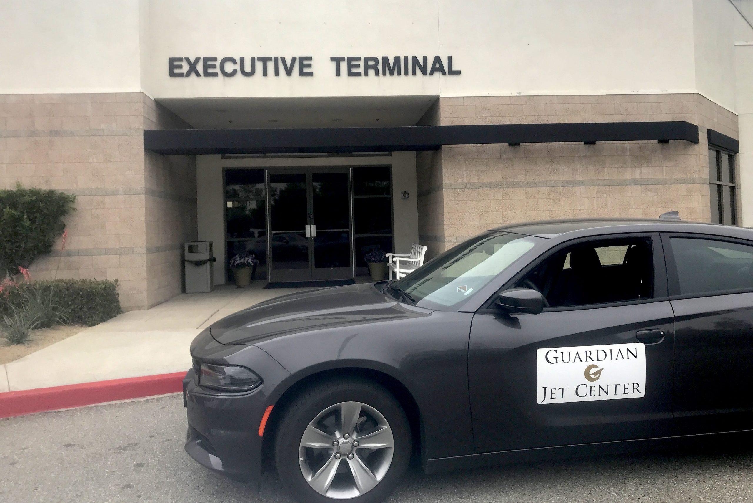 Car waiting at Executive Terminal
